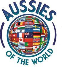 AUSSIES OF THE WORLD AUSTRALIAN STICKER VINYL DECAL CAR TRUCK CARAVAN SOUVENIR