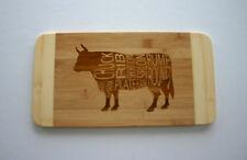 Beef Chart Diagram Bamboo Cutting Board Butchers Chart Gift Cow Cutting Board