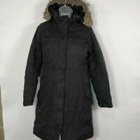 WOMENS THE NORTH FACE HYVENT BLACK GOOSE DOWN COAT JACKET PARKA S SMALL