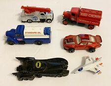 6 Branded Die Cast-Tootsie Jet,Majorette Porsche,2 Lledo Trucks,+Ertl & Matchbox