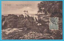 D.  Sao Tome   Vraia da Roca Monte-Forte    Postkarte  1937
