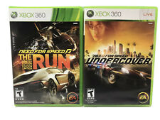 Xbox 360 Need for Speed Lot of 2 Games The Run And Undercover Games Tested Works