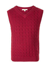 John Lewis Heirloom Collection Boys' Cable Knit Tank Top / Burgundy 6 Years New