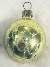 SHINY BRITE Vintage Mercury Glass Gold SilverGlitter Pinecone Christmas Ornament