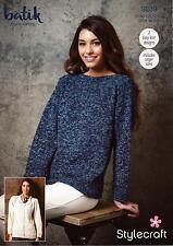 Stylecraft 9289 Knitting Pattern Batik DK- Sweater & Cardigan