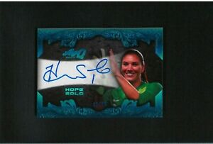 HOPE SOLO Autograph #/15 LEAF Q Auto World Cup US Women Soccer OLYMPIC FIFA