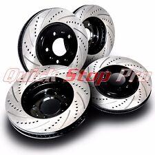 SUB014S Fit WRX 09-14 Performance Brake Rotors Set Cross Drill + Curve Slots