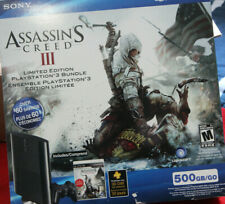 Playstation 3 500GB Super Slim Assassin's Creed III Bundle BRAND NEW SEALED PS3