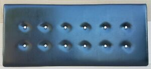 Kingsize 150cm Headboard Black Faux Leather with Crystals NEW