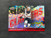 2019-20 UPPER DECK OVERTIME CONNOR MCDAVID CLAPPERS RED RAINBOW C-1 #ed 5/25