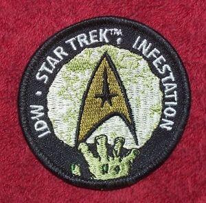 Star Trek Infestation IDW Promo Zombie Patch Comic Nerds The Walking Dead #1