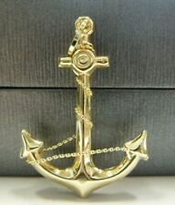 Large 9ct Gold Anchor Pendant