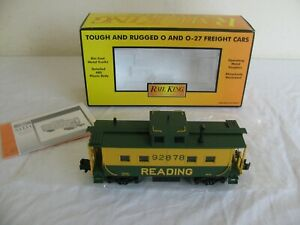 MTH Rail King O/O-27 Scale Lighted Reading 92878 Steel Caboose #30-7733 EX