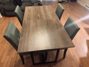 4 - Piece Dining Table Set, Grey Oak