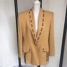 Criscione New York Womens Large Vintage Beige Blazer Western Style Jacket Laces