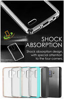 For Samsung Galaxy A50 Crystal Clear Hard TPU Rubber Hybrid Phone Case Cover