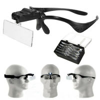 Head Magnifier 2 LED Lights Magnifying Glass Hands Free 5 LEN Eyelash Extensions