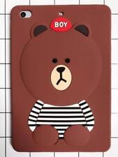 iPad Mini 1 / 2 / 3 Gen - SOFT RUBBER SILICONE SKIN CASE COVER DARK BROWN BEAR
