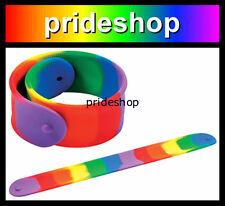Rainbow Slap It Silicone Wristband Mardi Gras Parade Gay And Lesbian Pride #1376