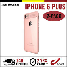 2IN1 Auto Focus Cover Cas Coque Etui Silicone Hoesje Case For iPhone 6 Plus Pink