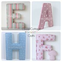 Nursery Fabric letters EX LARGE Wall Art, name, handmade personalised, padded