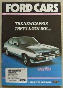 FORD CAR RANGE Sales Brochure Aug/Sept 1981 #FA221/70 XR3 Fiesta ESCORT Capri