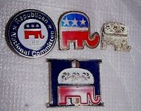Vintage 1995 REPUBLICATION NATIONAL COMMITTEE (4) PINS Presidential Task Force