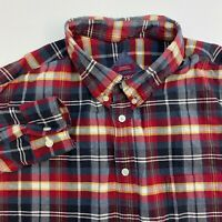 Merona Button Up Shirt Mens XXL Multicolor Plaid Long Sleeve Casual
