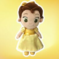 """Disney Store Beauty and Beast Princess Belle Baby Toddler Plush Doll 12"""" Clean!"""