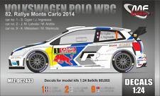 DECALS 1/24 VOLKSWAGEN POLO WRC - #1 ou #2 ou #9 - MONTE CARLO 2014 - DC2433