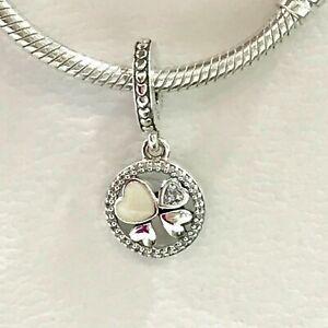 Genuine PANDORA HEARTS OF LOVE Sterling Silver CZ Charm 792104 S925 ALE