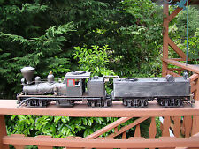 4 Truck Logging Shay Locomotive - DCC, sound, lights, smoke - custom weathered .
