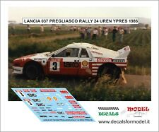 DECALS 1//43 LANCIA 037 STAGNI RALLY MONZA 1987