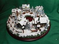 Hawthorne Village Thomas Kinkade A Holiday Gathering Centerpiece Wreath