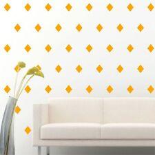 "4"" Set of 96 Yellow Diamond Shape Wall Decal Vinyl Sticker Wall Pattern Decor"