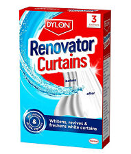 Dylon Net Curtain Renovator Whitener Revives Freshens White Curtains 3 Sachets