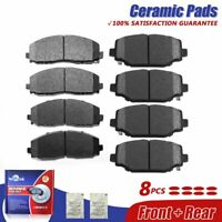 Front & Rear Ceramic Brake Pads For Town & Country, Dodge Grand Caravan Journey