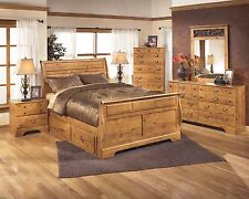 Ashley Bittersweet Queen 7 Piece Country Sleigh Bed Set Furniture B219