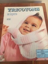 Vintage  CATALOGUE MAGAZINE Tricotons sa layette  N°62 1963 baby tricot layette