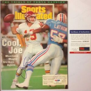Joe Montana PSA Authenticated January 24th 1994 Sports Illustrated Magazine HOF