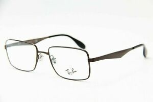 NEW RAY BAN MATTE BROWN METAL AUTHENTIC EYEGLASSES RB 6329 2593 53-18 140