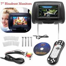 "Black HDMI 7"" HD Car Headrest Monitor 1080P Pillow DVD/USB/HDMI Player Headsets~"