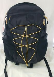 The North Face Borealis Backpack in Grey/TNF Yellow