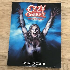 Ozzy Ozbourne Tour Programme - 1984 - Bark At The Moonlight