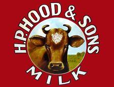 "TIN SIGN ""Hood and Sons Milk "" Dairy Art Deco Garage Wall Decor"