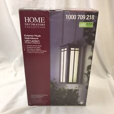 NEW HDC Antique Bronze Exterior Flush Wall-Mount LED Lantern Fortston Collection