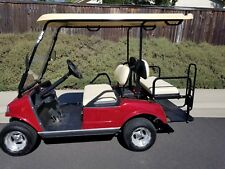 New 2020 Candy Apple Red Evolution EV Golf Cart Car 4 Passenger seat 48v