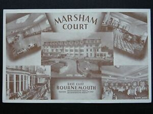 Dorset EAST CLIFF BOURNEMOUTH Marsham Court Hotel - Old Postcard