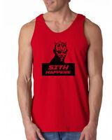 520 Sith Happens Tank Top funny star geek nerd jedi wars force vintage retro new