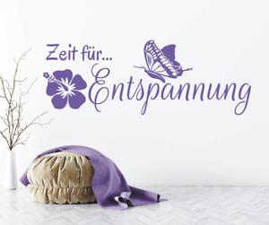 X8105 Spruch Zeit für Entspannung Sticker Wandbild Wandaufkleber Wellness Bad
